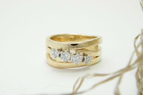 Gouden-dubbele-ring-diamant